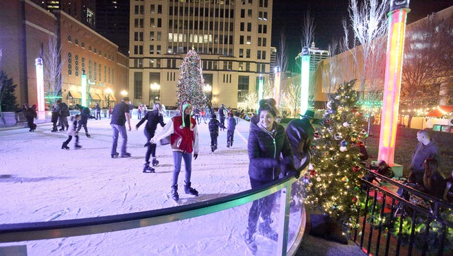 Get your skates and hit the ice in the temporary ice rink in downtown Louisville.