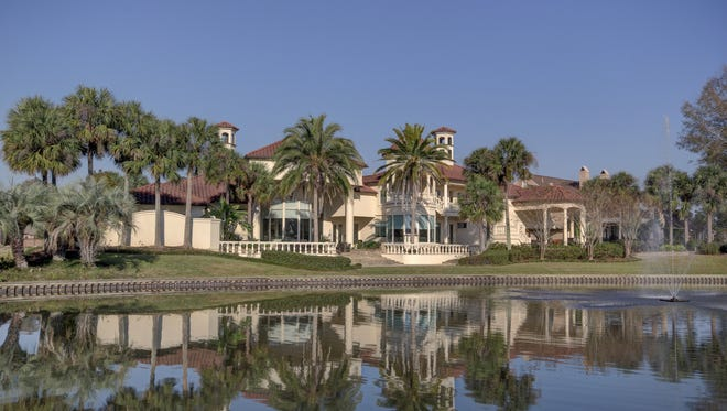 This 3 bedroom, 41/2 bath home has 5,244 square feet of living area and is listed at $2,200,000.