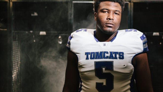 Emmit Gooden is committed to play college football for Mississippi State and is the All-West Tennessee Football Lineman of the Year after having a stellar season for Haywood.