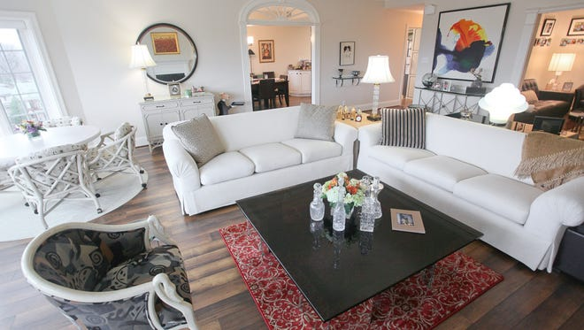The living room at the home of Joan Weinstein in Louisville, KY. Dec. 29, 2015