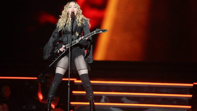 Madonna, during the Rebel Heart Tour, at the KFC Yum! Center in Louisville, KY. Jan. 16, 2016