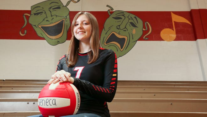 Leah Johnson, a volleyball player and budding actress, at Seneca High School in Louisville, KY. Dec. 18, 2015