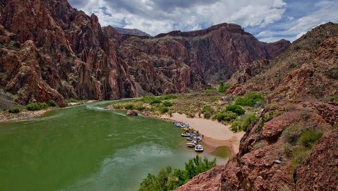 The Colorado River at Grand Canyon National Park April, 25, 2013.