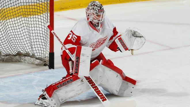 Red Wings goaltender Jimmy Howard