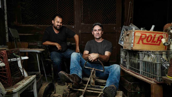 """Frank Fritz on left and Mike Wolfe on right, are hosts of The History Channel's """"American Pickers."""""""