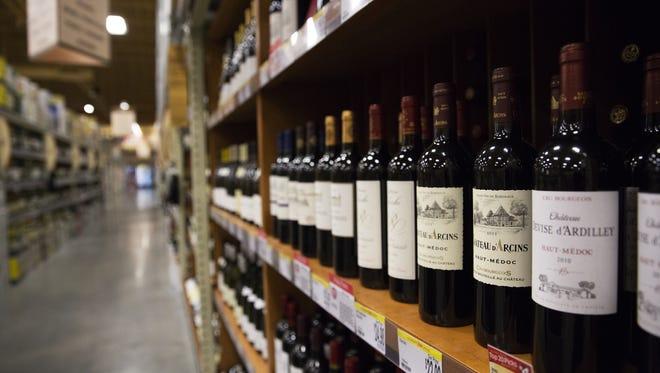The wine shelve at a Wegmans store in Alexandria Virginia