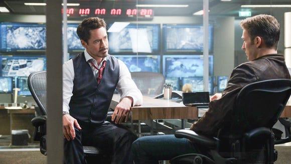 Tony Stark (Robert Downey Jr.) has a heart-to-heart
