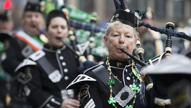 The St. Patrick's Day Parade in downtown Rochester.
