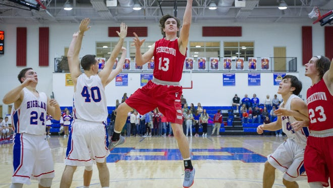 Fredericktown's Kirk Manns led the area in scoring this season and became an All-Ohioan in a third sport.