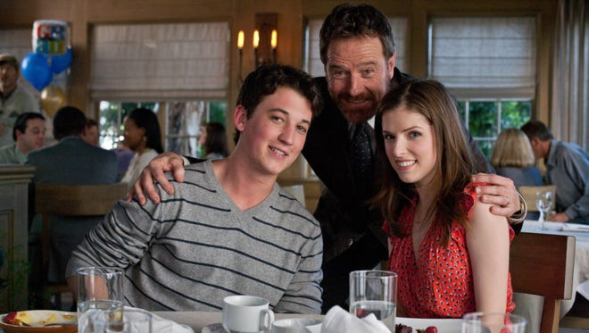 Bryan Cranston plays the dad to Miles Teller's character in the poorly-reviewed 'Get A Job.' Anna Kendrick plays Teller's girlfriend. All three are-- you guessed it-- trying to get jobs.