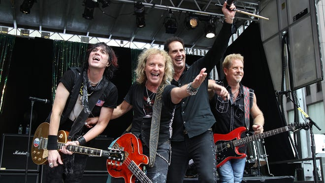 Keri Kelli, from left, Jack Blades, Kelly Keagy, and Brad Gillis of Night Ranger are headed to Celebrate De Pere for a show on May 28.