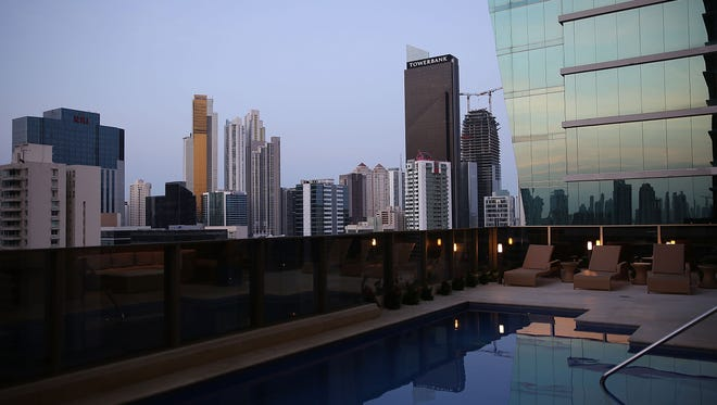 Part of the Panama City skyline shows the wealth that has been created, in part, by tax havens that allow the world's wealthy to hide their assets through off-shore accounts.