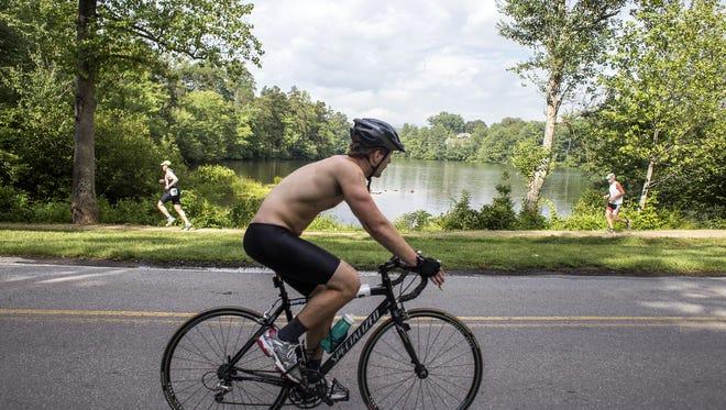 A cyclist in WNC.