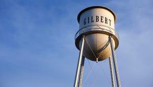 Downtown Gilbert  water tower.