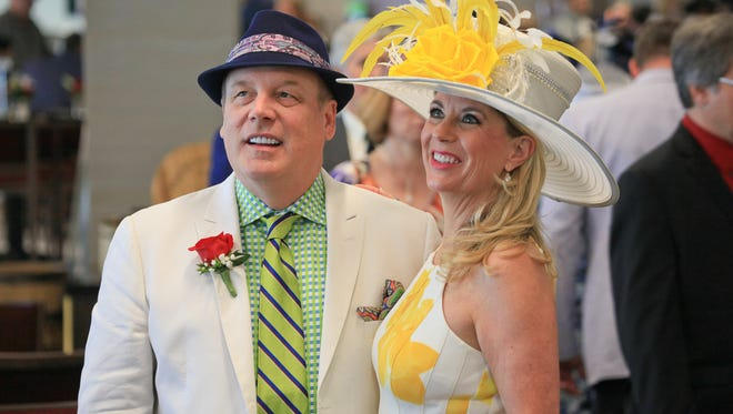 Scott Sires and Barbara Heir during the 2016 Kentucky Derby. May 7, 2016