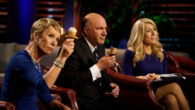 Barbara Corcoran, left, Kevin O'Leary and Lori Greiner are the successful business people, aka Sharks, who decide what businesses to invest in on ABC's 'Shark Tank.'