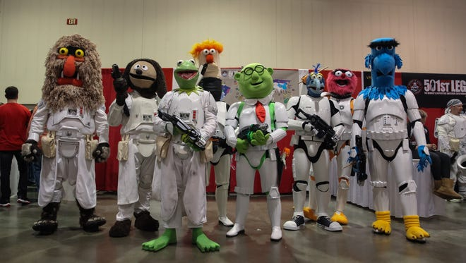 Guests wore an array of costumes from the worlds of comics; science fiction and fantasy at the Suburban Collection Showplace in Novi on Saturday May 14, 2016 during the Motor City Comic Con. The day was highlighted by the events annual costume contest that brought out some of the most creative group and individual costumes.