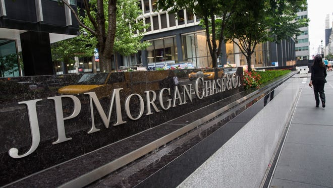File photo taken in 2012 shows the sign outside U.S.-based global bank JPMorgan Chase's headquarters in New York City.