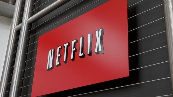 The Netflix logo at company headquarters in Los Gatos, Calif.