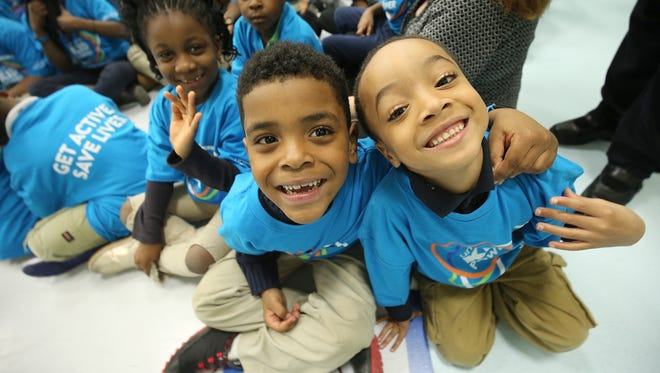 A general view of UNICEF Kid Power Twin Cities Celebration at Odyssey Charter School on April 6, 2016 in Brooklyn Center, Minnesota.