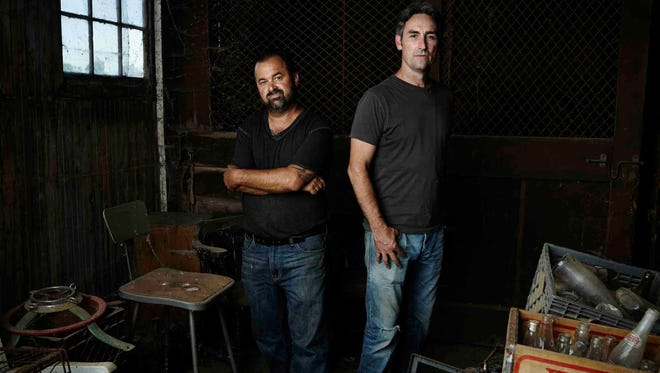 Mike Wolfe and Frank Fitz are filming episodes of American Pickers throughout the Delaware region this summer.