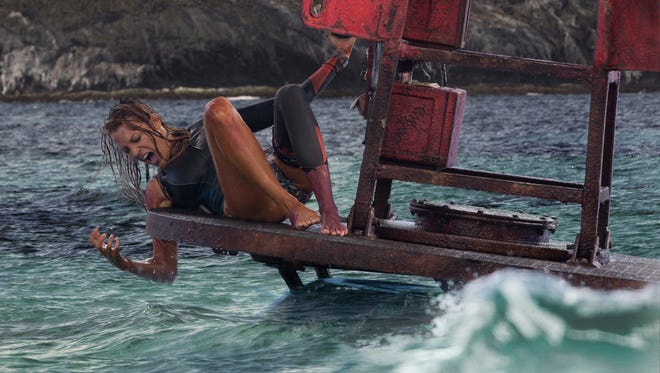 """Nancy (Blake Lively) in Columbia Pictures' """"The Shallows."""" The movie is playing at Regal West Manchester Stadium 13 and Frank Theatres Queensgate Stadium 13."""