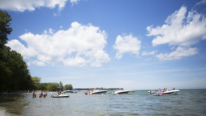 File photo of boats anchored at shore in Braddock Bay Park in 2015.