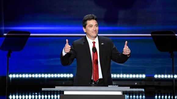Scott Baio speaks at the Monday evening session during