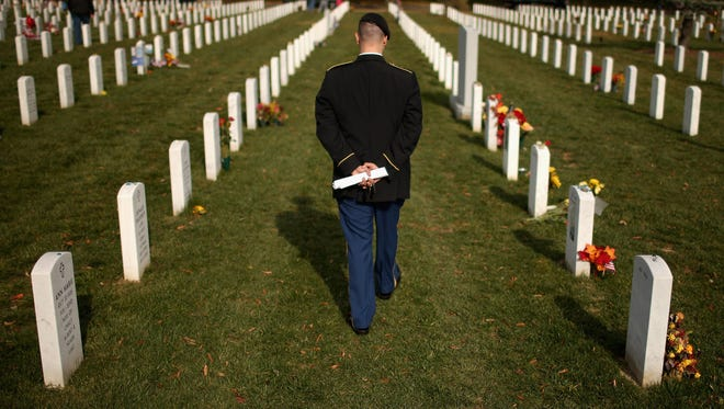 Twenty veterans a day committed suicide in 2014, a trend made worse by high rates among young male veterans and the suicidal tendencies among female veterans, according to the VA.