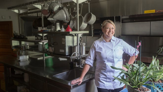 Norma Whitt is the new chef for Iowa State University's President Steven Leath in Ames. She has put an emphasis on growing much of her own produce and invests in local vendors.