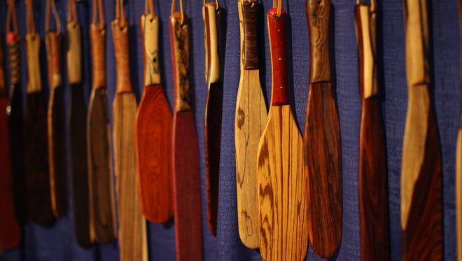 Paddles are displayed for sale at the DomConLA convention on May 18, 2012 in Los Angeles, California.