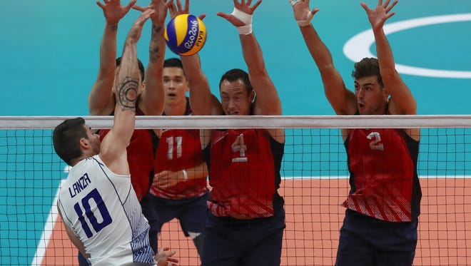 The U.S. men played better in match No. 2 of the Olympics, but Filippo Lanza and Italy still had enough to hand them another loss.
