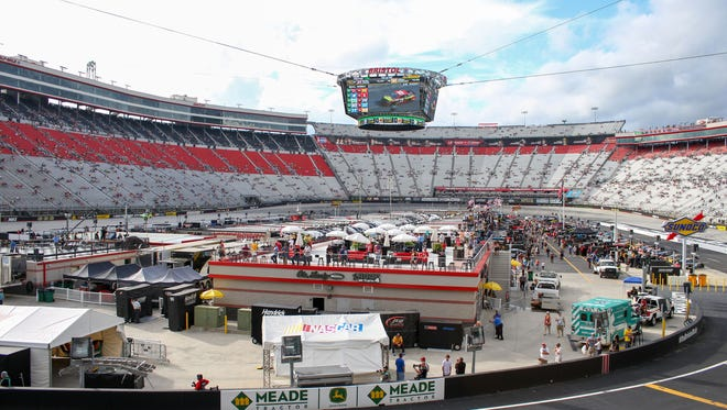 A view of Bristol Motor Speedway before fans arrived for the 2016 Bristol night race.