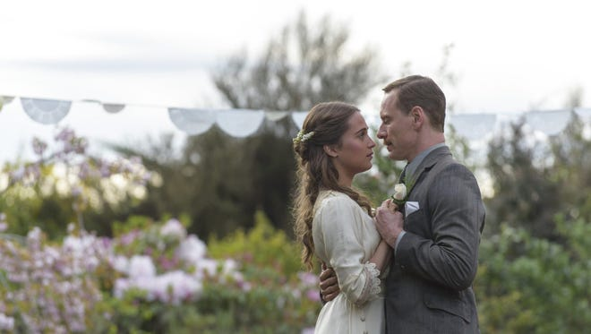 """Alicia Vikander and Michael Fassbender star in """"The Light Between Oceans."""""""
