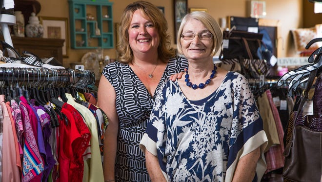 Up the Creek Ladies Consignment Boutique owners Tammi Carlson-Seeley, left, and Alicia Beck.