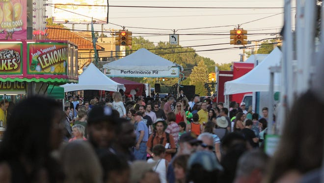 Thousands of Metro Detroiters filled the streets of downtown Royal Oak during the Arts, Beats & Eats festival in Royal Oak on Saturday, September 3, 2016.