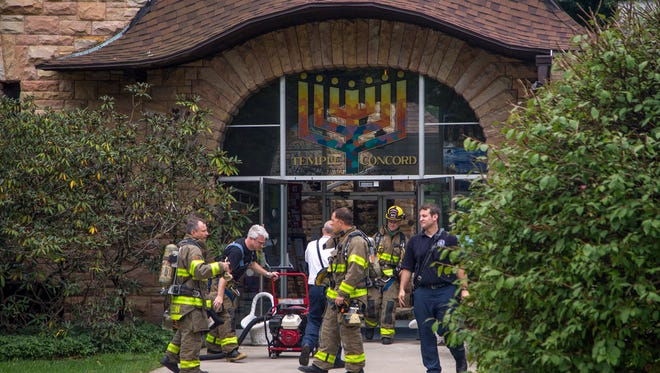 Temple Concord was briefly evacuated on Friday after firefighters responded to reports of smoke filling the building.