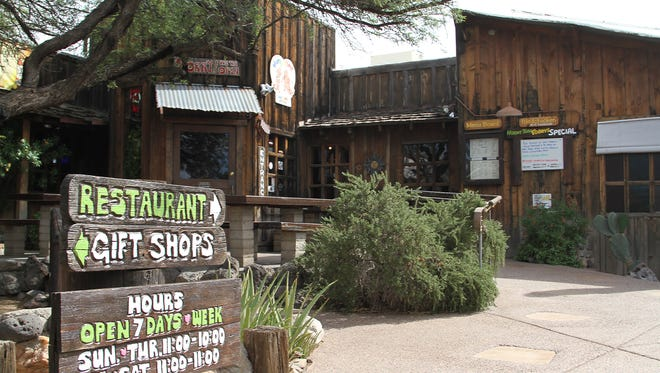 Exterior restaurant and saloon Horny Toad which celebrates it's 40th Anniversary.