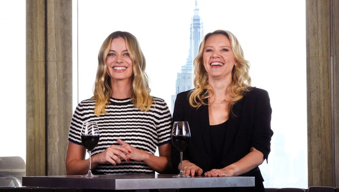 Margot Robbie and Kate McKinnon in a promo for the 42nd-season premiere of 'Saturday Night Live.'