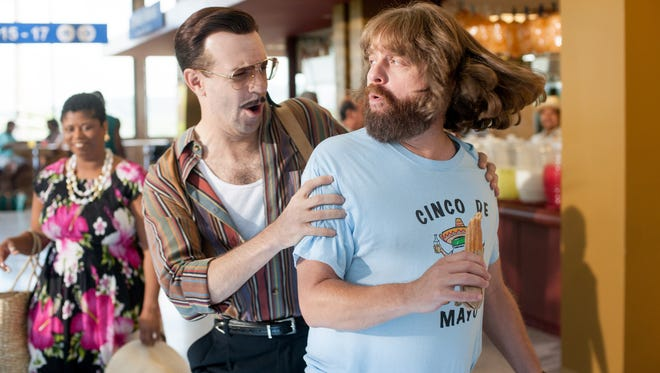 """Jason Sudekis and Zach Galifianakis star in the film """"Masterminds."""" The movie is playing at Regal West Manchester Stadium 13, Frank Theatres Queensgate Stadium 13 and R/C Hanover Movies."""