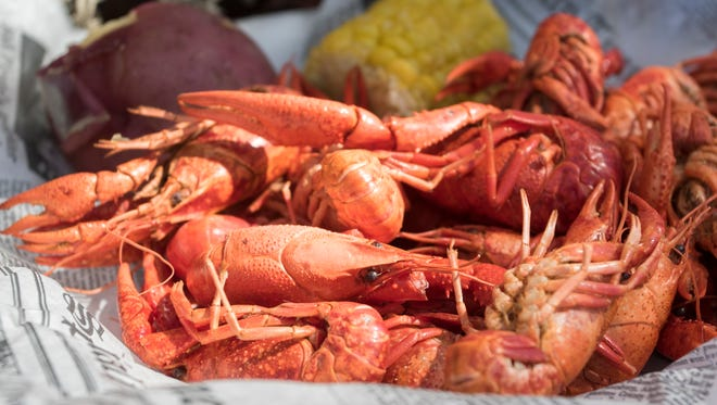A plate of crawfish at the Seafood Festival in Pensacola on Friday, September 30, 2016.