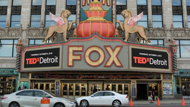 A near capacity crowd filled the Fox Theatre during the Tedx Detroit conference on Thursday, October 6, 2016. The locally-organized event is one several modeled after the popular TED conference series.