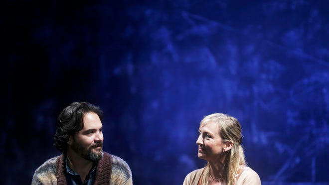 Actors Cody Nickell and Kate Eastwood Norris rehearse the play Constellations by Nick Payne and directed by Matt Pfeiffer, put on by Gulfshore Playhouse at The Norris Center in Naples on Tuesday, Oct. 4, 2016.