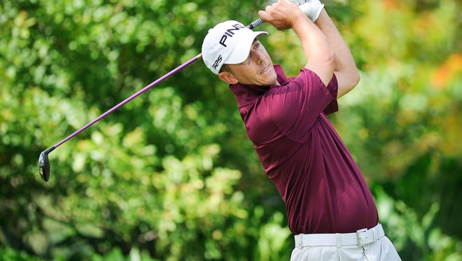 Stuart's Justin Peters, shown in this file photo from a U.S. Open qualifier, will tee it up for the 17th time in q-school later this week in West Palm Beach.