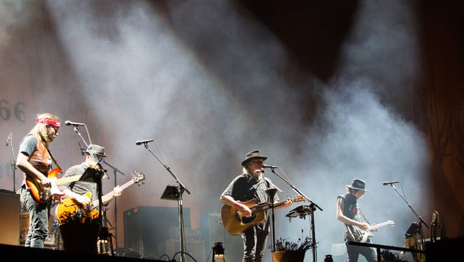 Neil Young and Promise of the Real perform on the second weekend of Desert Trip, Sat. October 15, 2016.