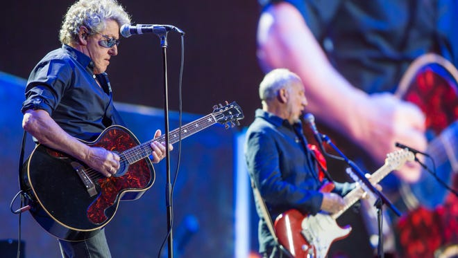 The Who performs at the second weekend of Desert Trip, Sunday, October 17, 2016.