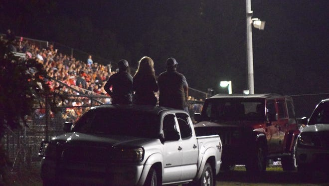 Tioga fans watch the Indians take on Neville Friday.