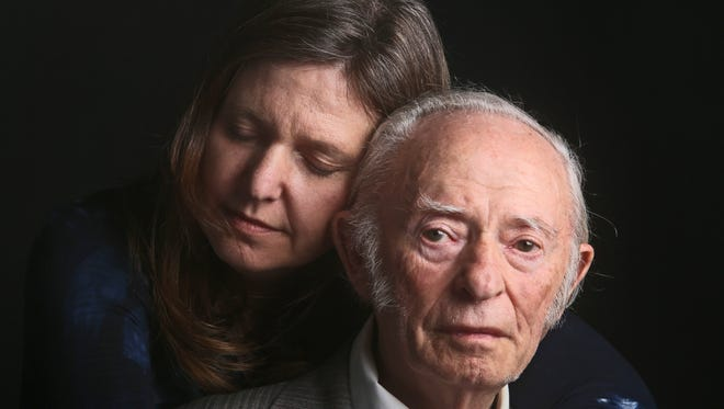 """Image of Jacob Breitstein, 93, and his daughter, Grace Bennett, 54, of Chappaqua, are part of Seth Harrison's """"L'dor Vador"""" project. Breitstein was 17 when he arrived at Auschwitz with his brother in 1943. His brother was killed a short time later; Breitstein remained there until the camp was liberated in 1945 at the end of World War II."""