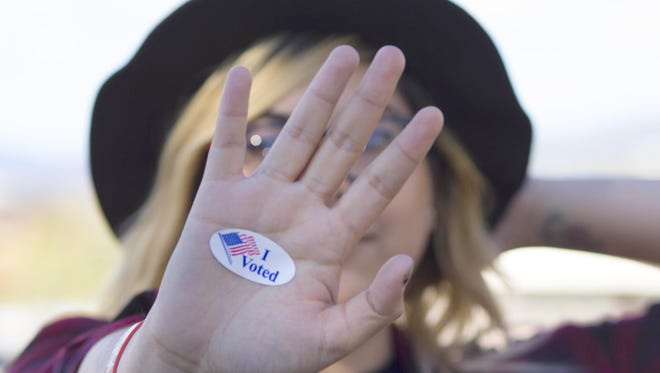 Kat Quarrell, a WNMU student, participated in the voting process Tuesday.