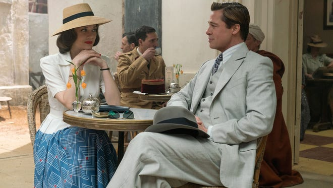 "Brad Pitt plays Max Vatan and Marion Cotillard plays Marianne Beausejour ""Allied."" The movie opens Wednesday at Regal West Manchester Stadium 13, Frank Theatres Queensgate Stadium 13 and R/C Hanover Movies."